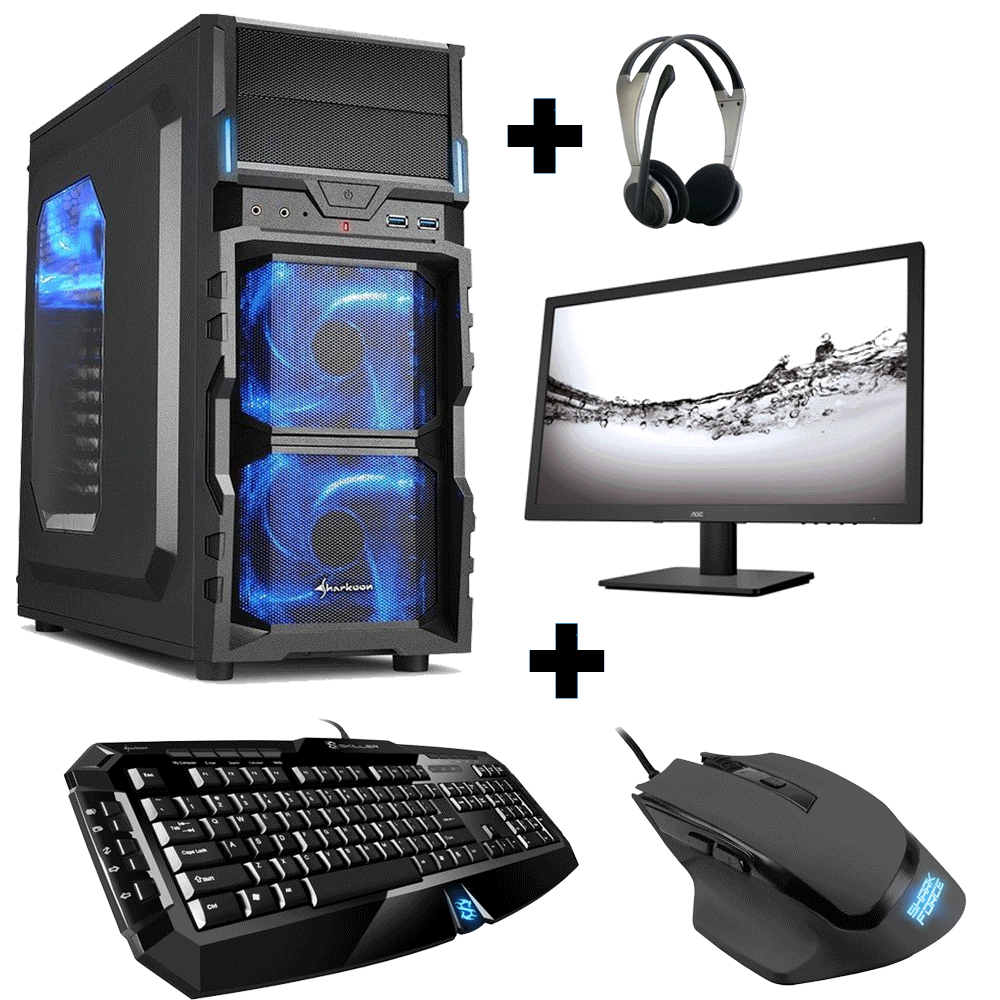 pc komplett set amd 6300 radeon hd 8370d 4gb 1tb gaming win10. Black Bedroom Furniture Sets. Home Design Ideas